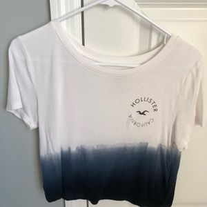 Cropped ombré graphic tee